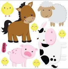 Risultati immagini per animales de granja infantiles vector