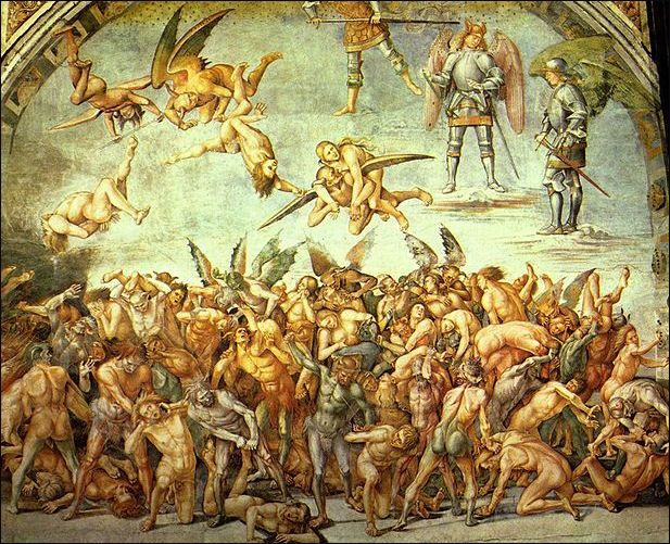 Medieval Art Hell geography of heaven an...