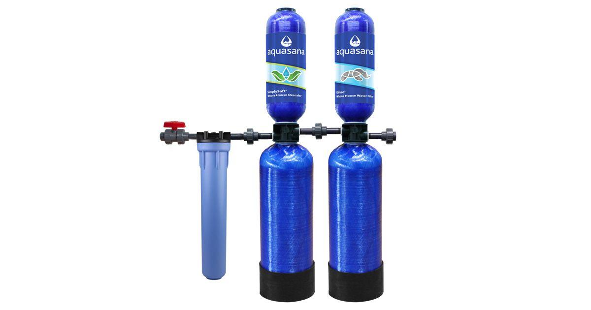 SimplySoft Salt-Free Water Softener for Tankless Water Heaters Aquasan