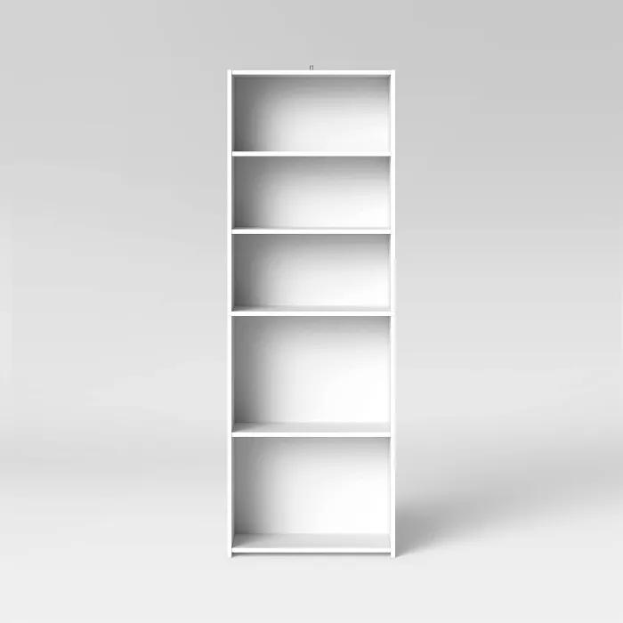 5 Shelf Bookcase Room Essentials White Bookcase 5 Shelf Bookcase White Bookshelves