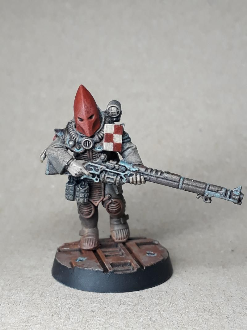 Astra Militarum Base Cultist Imperial Cultist Imperial Guard Infantry Squad Rust Effect Warhammer 40 0 Warhammer Warhammer 40k Miniatures Mini Paintings