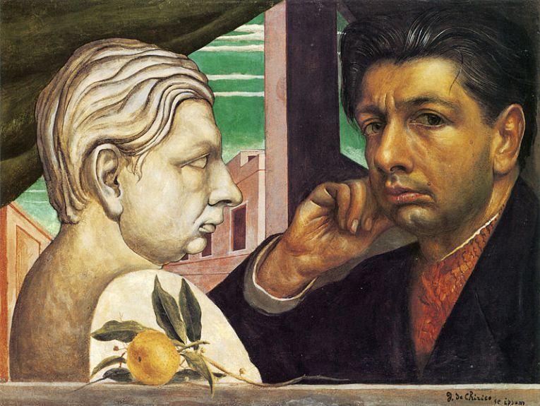 Auto-retrato, 1922 Giorgio de Chirico (Grécia, 1888-1978) óleo sobre tela, 38 x 51 cm Toledo Museum of Art, EUA