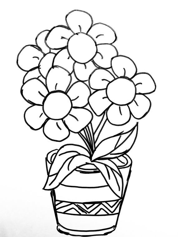 Nature Colouring Sheets Etsy In 2021 Printable Flower Coloring Pages Flower Coloring Pages Spring Coloring Pages