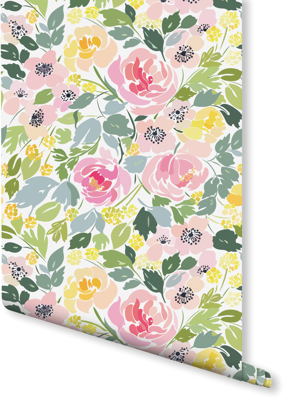 Fresh Summer Floral Wallpaper Wallpaper Pattern Wallpaper Floral
