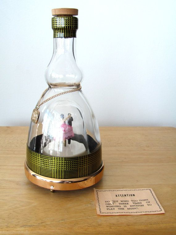 Vintage Prince Glass Musical Decanter Dancing Ballerina