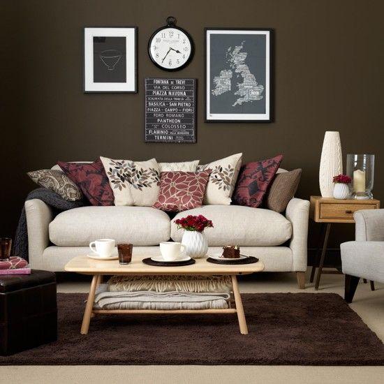 Chocolate And Cream Living Room Burgundy Living Room Living