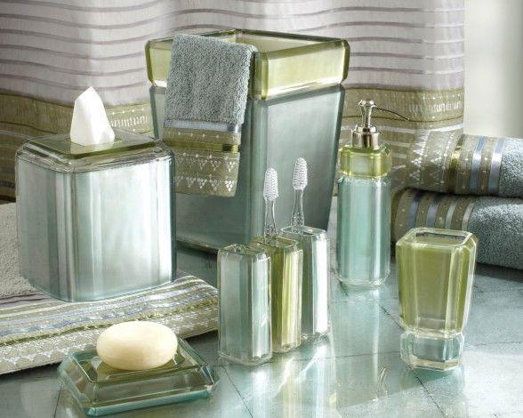 Aqua Glass Bathroom Accessories   Google Search