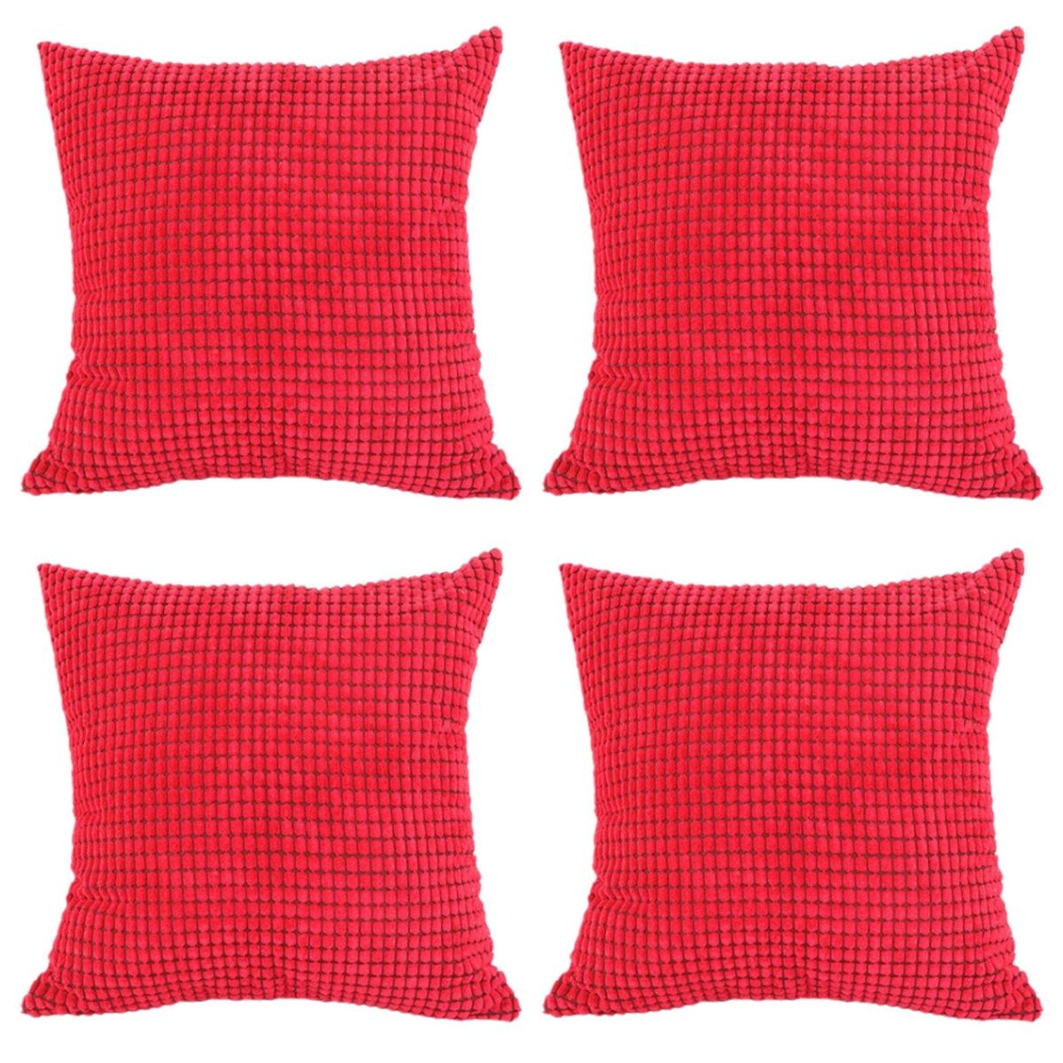 Solid throw pillow set of corduroy pillow cushionmultiple colors