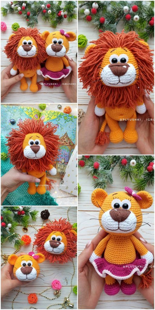 Amigurumi Lion Crochet Patterns - Amigurumi #crochettoysanddolls