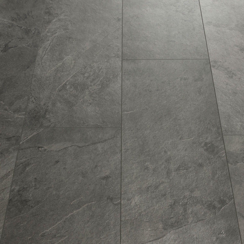 QuickStep Livyn Tile Grey Slate Luxury Vinyl Tile