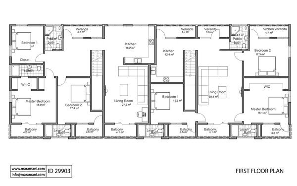 Apartment Building Floor Plan Id 29903 Floor Plans 2 Bedroom Apartment Floor Plan Beautiful House Plans