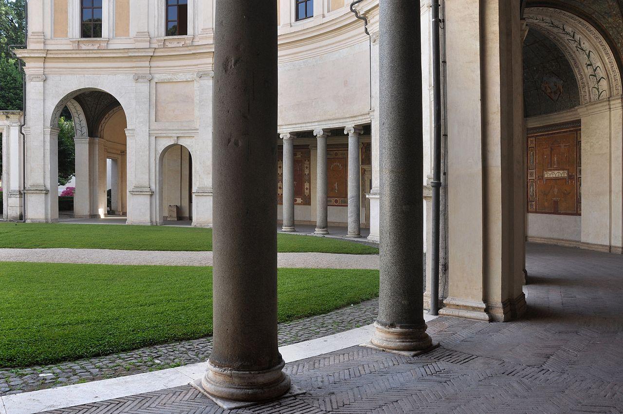 Semicircular Portico at the rear of the Casino - Vignola - Villa Giulia