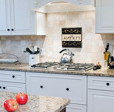 Wonderful White Cabinets And Venetian Ice Countertops. Granite ...
