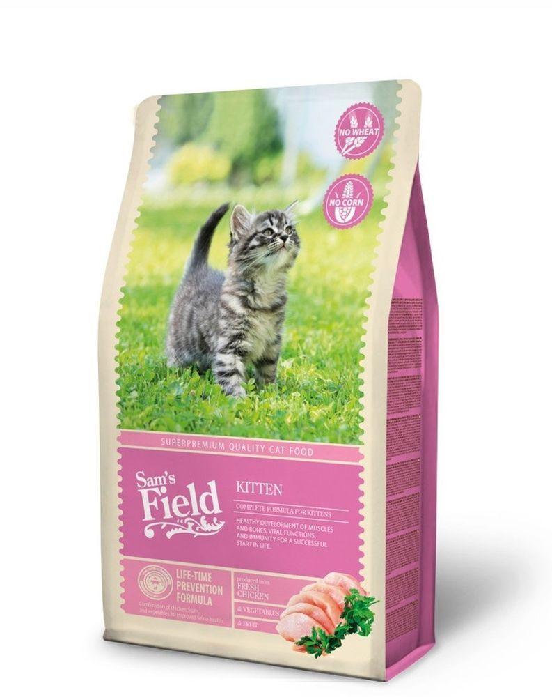Sams Field Cat Kitten Katzenfutter Katzen Trockenfutter Getreidefrei Glutenfrei Katzen Futter Katzenfutter Katzen