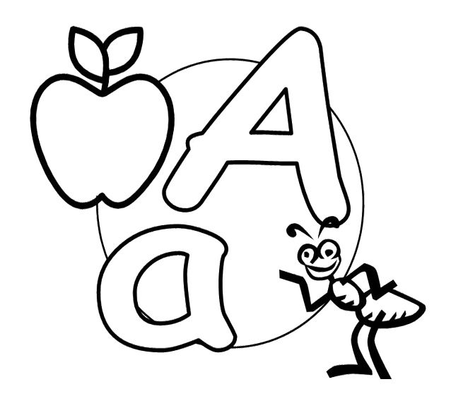 Letter A Small And Capital Letter A Coloring Pages