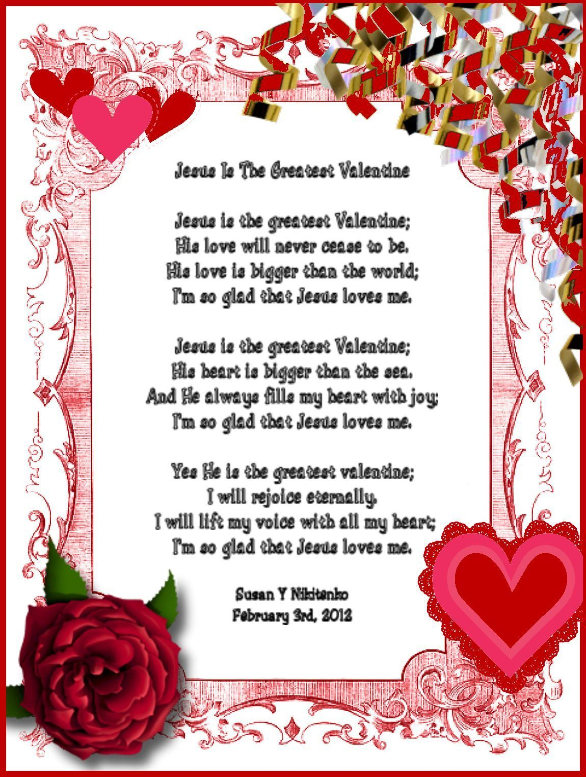 Funny Valentine Mother's Day Poems Wife. Jesus Is The ...