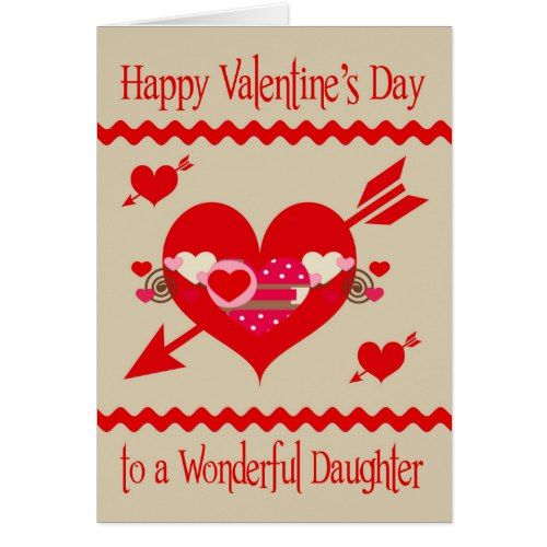 Valentines day to daughter holiday card valentine day ideas valentines day to daughter card m4hsunfo