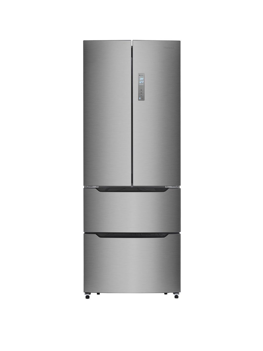 Hisense rf528n4ac1 70cm wide frost free french door style fridge hisense rf528n4ac1 70cm wide frost free french door style fridge freezer stainless steel look rubansaba