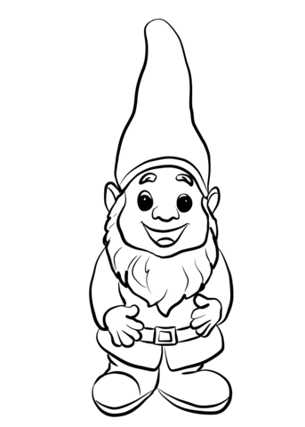 Cute Gnome Coloring Page From Fantasy Mythology Category Select From 30508 Printable Crafts Of Carto Fairy Coloring Pages Fairy Coloring Fairy Coloring Book
