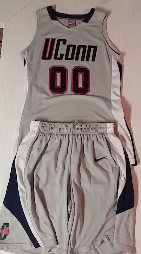 UConn Women's Nike Basketball Jersey/Shorts Set Medium #00 NCAA #Nike #UConn