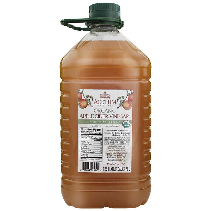 Acetum Organic Apple Cider Vinegar With The Mother 128 Fl Oz Organic Apple Cider Vinegar Taking Apple Cider Vinegar Organic Apple Cider