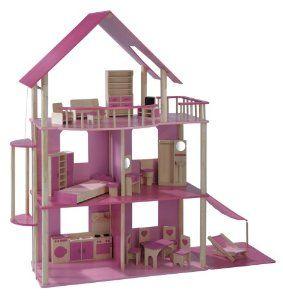 XXL Puppenhaus für Ankleidepuppen z.B. Barbie: Amazon.de: Spielzeug