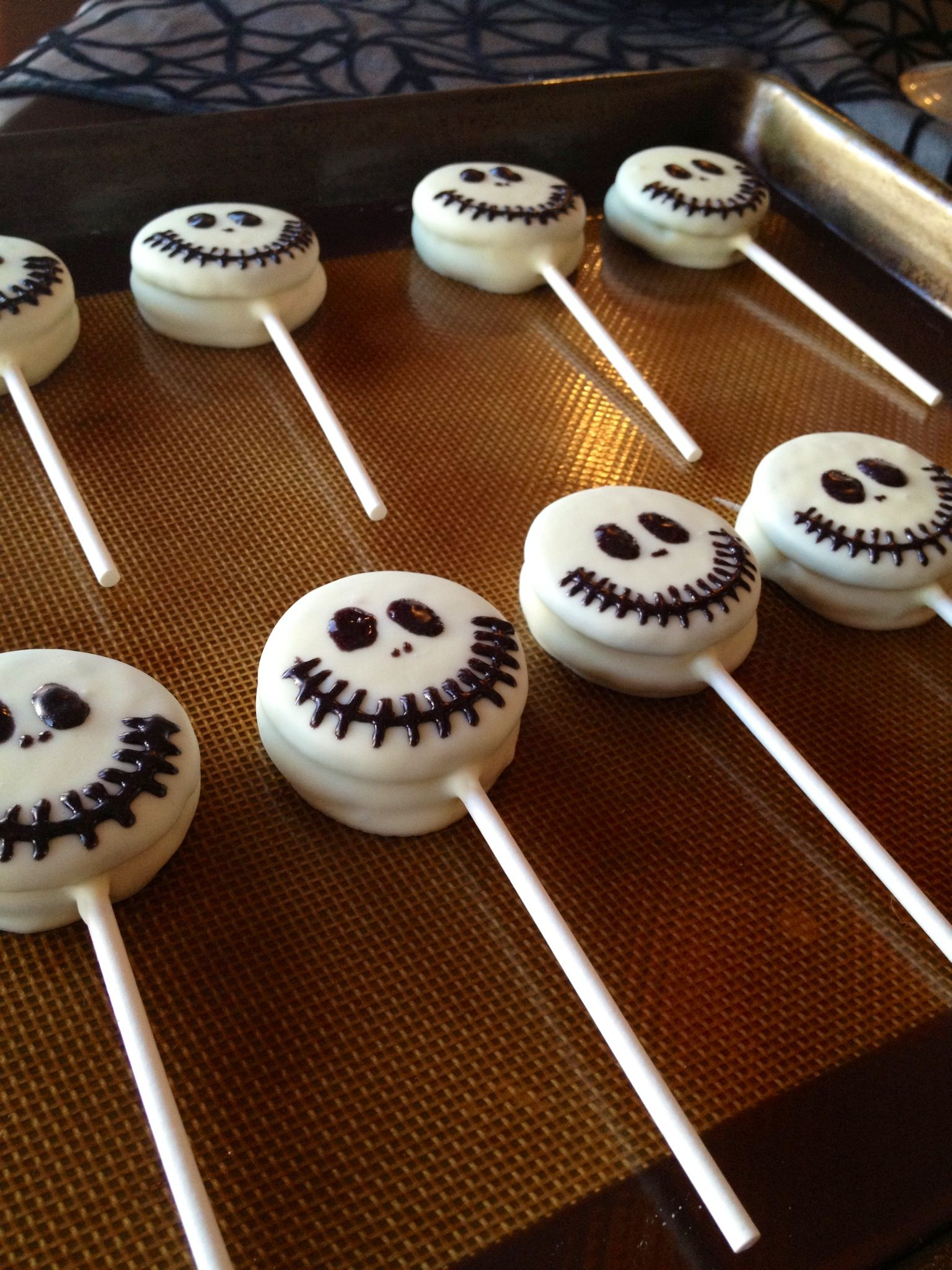 Jack Skellington Oreo Cake Pops