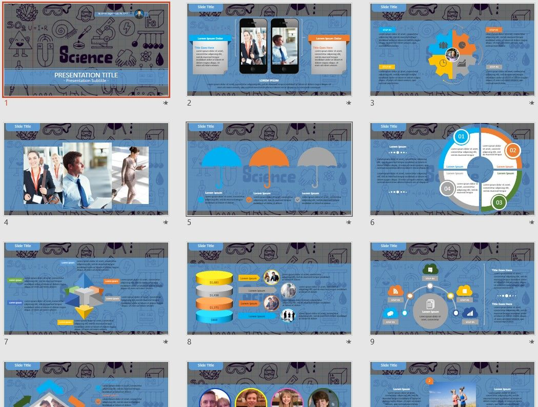 Science And Education Powerpoint By Sagefox Free Powerpoint