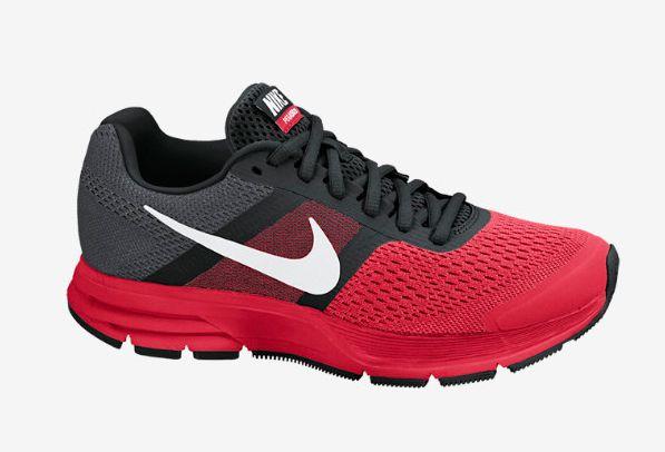 tenis nike gris con rojo