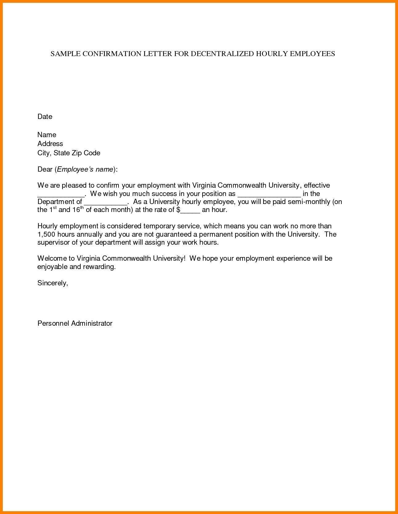 Download Best Of Confirmation Of Job Offer Letter at https