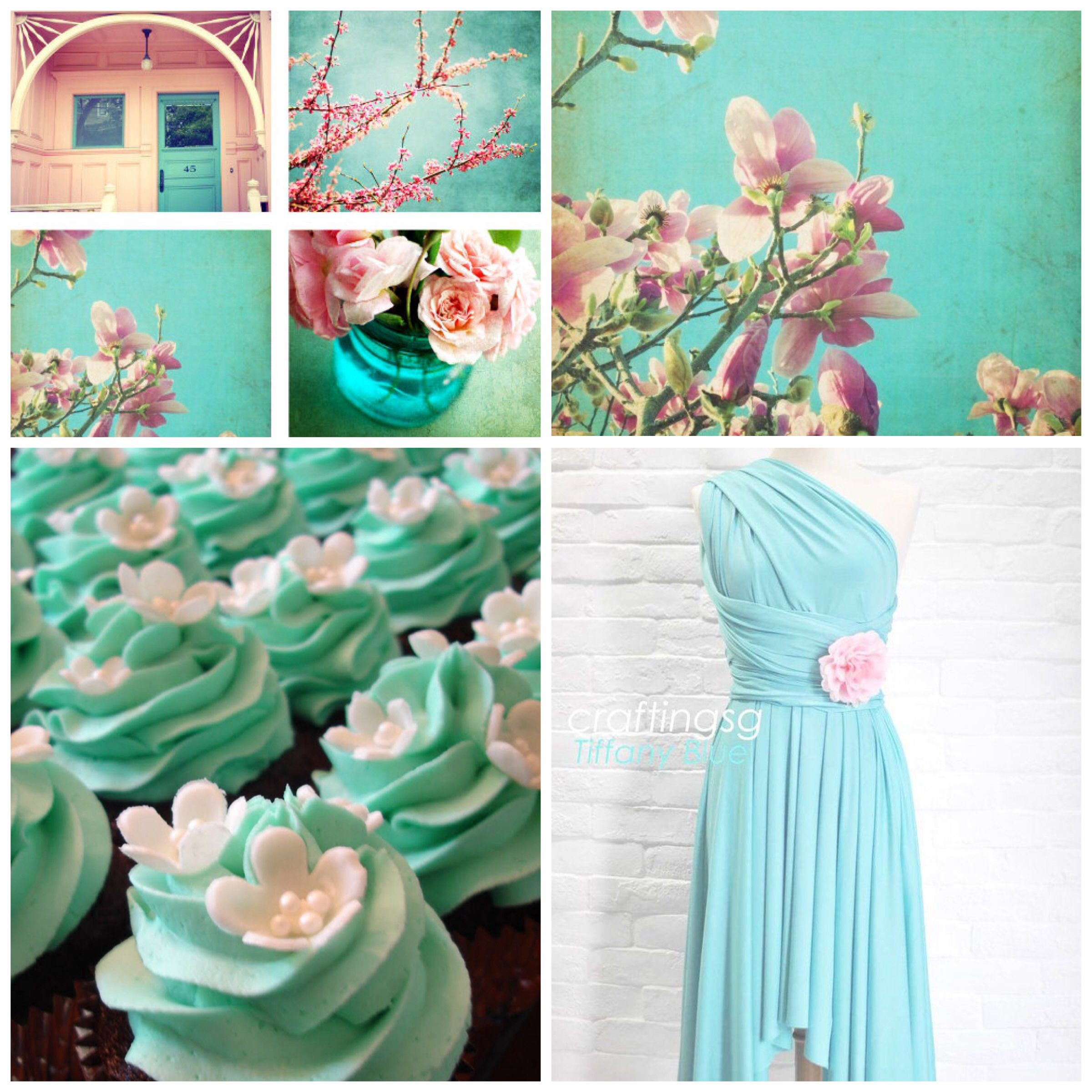 Tiffany blue and pink colour scheme for my late summer wedding :)