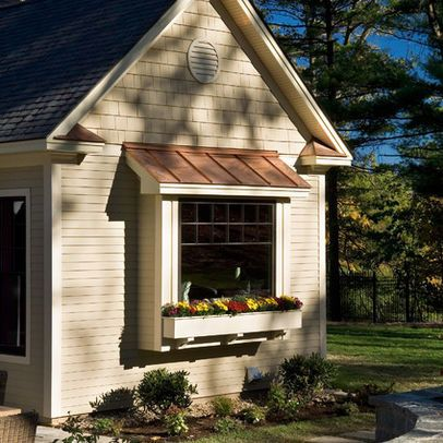 Copper Roof Design Ideas Pictures Remodel And Decor Bay Window Exterior Windows Exterior House Exterior