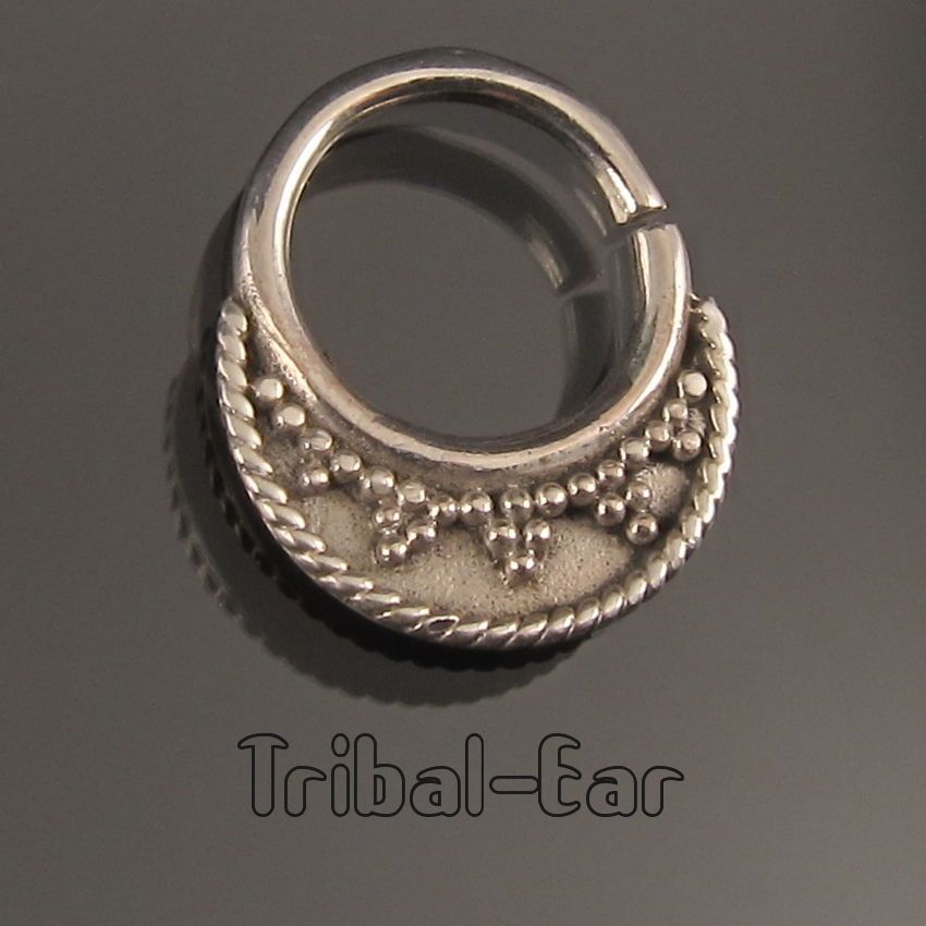 septum nose ring piercing sterling silver anneau nasal fashion Tribal Ear 020