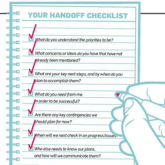 the fine art of follow through  a checklist for making