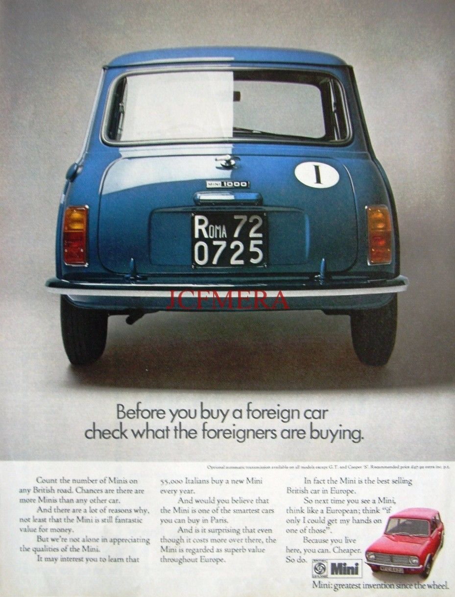 1971 Austin Mini \'1000\' Motor Car Advert - Original Auto Print AD ...