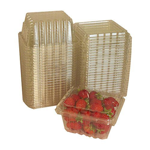 Plastic Clamshell Containers For Berries Cherry Tomatoes And Other Small Produce Pack Of 25 This Is An Amazon Affili Food Storage Shelves Berries Clamshell