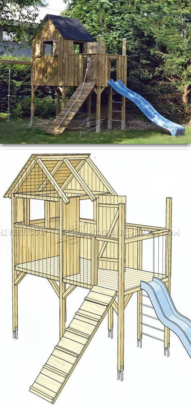 DIY Backyard Playhouse - Children\'s Outdoor Plans and Projects ...