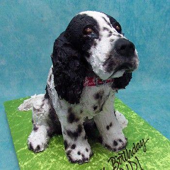 3d Spaniel Dog Cake Living Things 3d Cakes Dog Cake Animal
