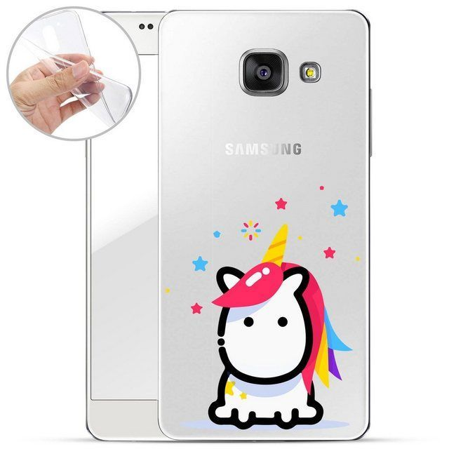 Smartphone Case Unicorn Colorful Hair for Samsung Galaxy A3 2016 Samsung Galaxy A3 2016