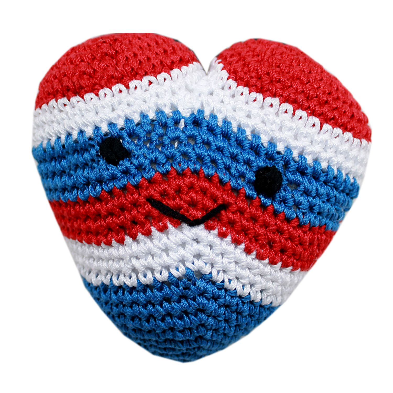 Knit Knacks Hamilton The Usa Heart Organic Dog Toy Small Dog