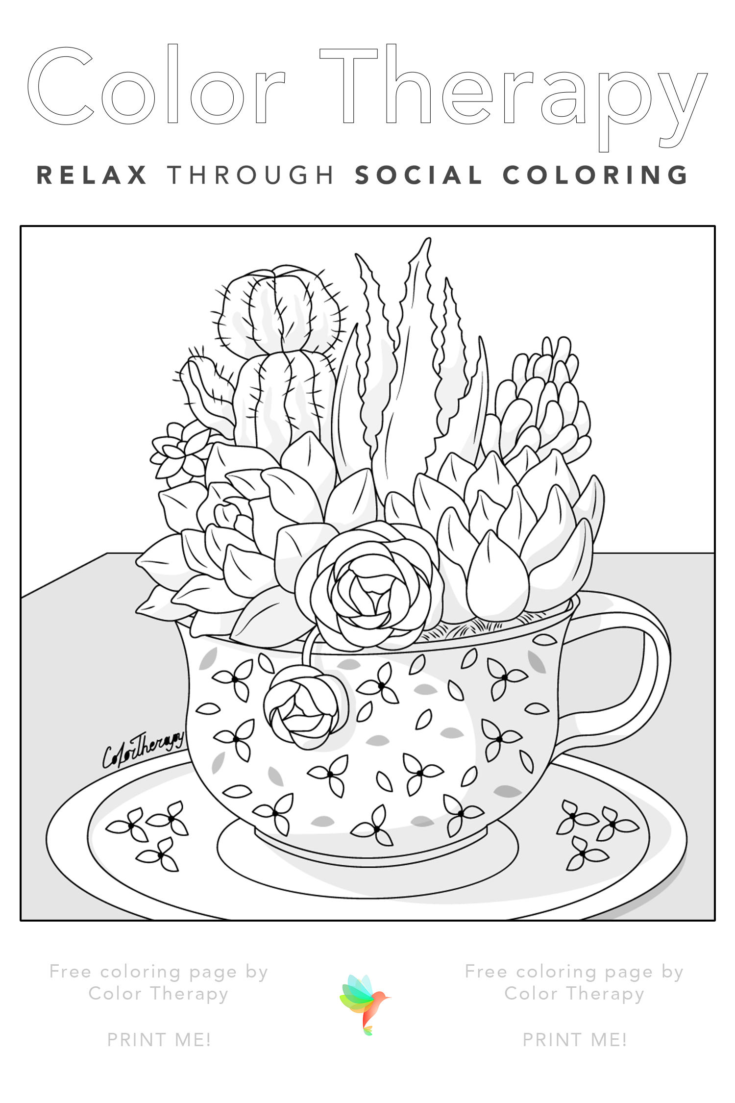 Color Therapy Gift Of The Day Free Coloring Page Coloring Pages Free Coloring Pages Color Therapy