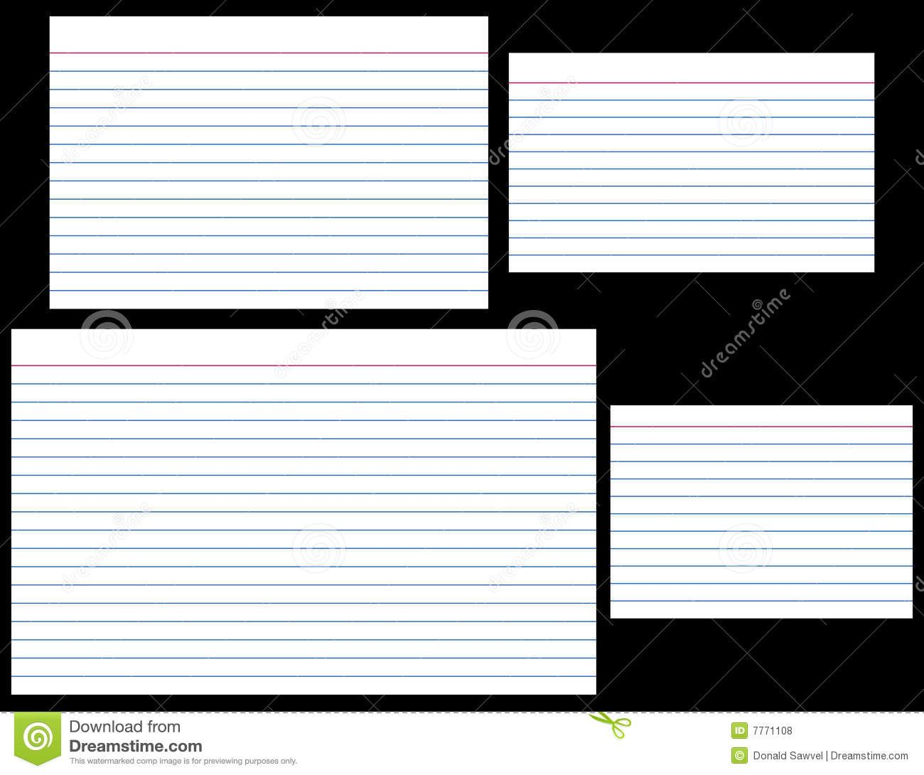 Index Cards Stock Vector Illustration Of Stationery Lined Inside 5 By 8 Index Card Template Cumed Org Cardio