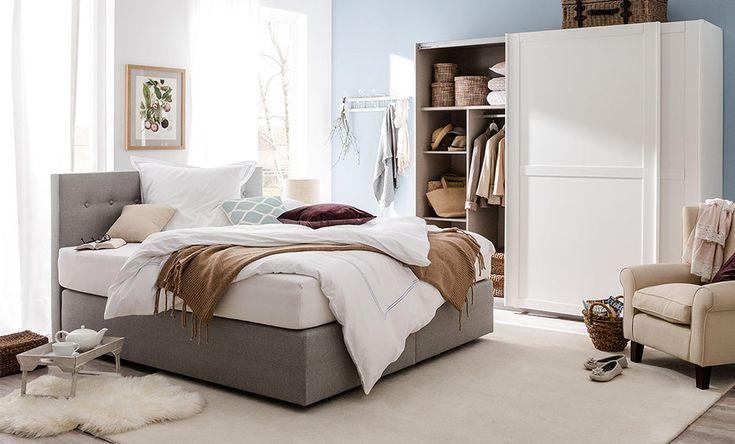 Mit der richtigen Farbe kannst du dem Raum Größe schenken – und dir einen er...   Schlafzimmer ...