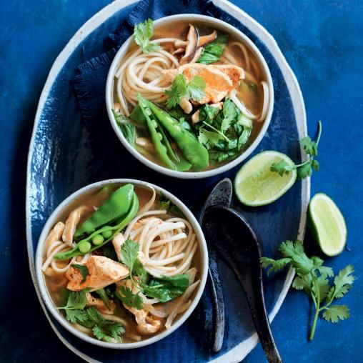 Spicy Chicken And Bok Choy Udon Noodle Soup Australian Healthy