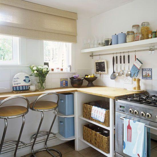 small kitchen For the kitchen Pinterest Kitchens, Open shelves