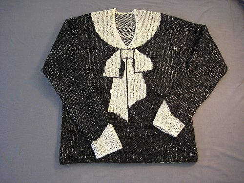 Elisa Schiaparelli´s Bowknot Sweater - Free Pattern | Мода ...