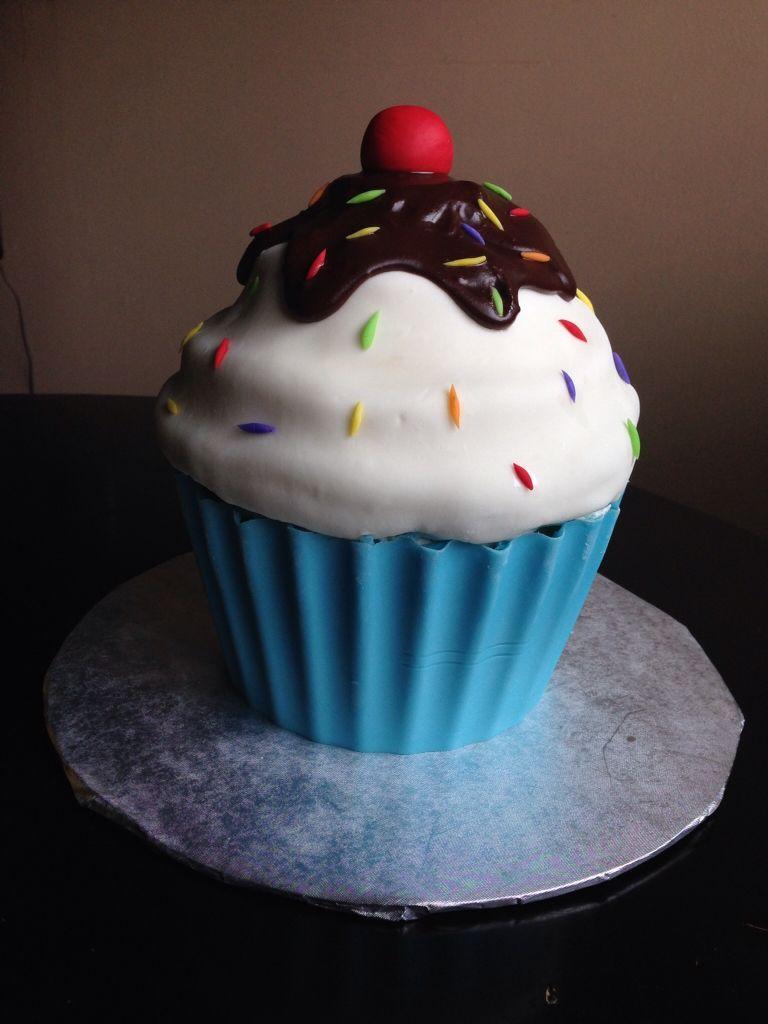 Ice Cream Sundae Giant Cupcake Giant Cupcake Cakes Large Cupcake Cakes Big Cupcake