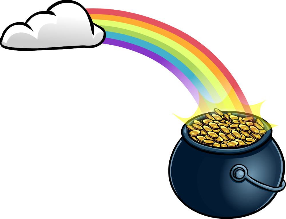 Rainbow And Pot Of Gold Free Download On Clipartmag Pot Of Gold Rainbow Gold