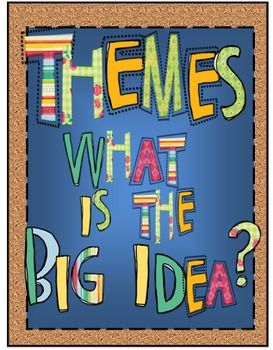 Themes What Is The Big Idea Reading Themes School Reading Theme