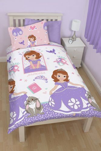 From 14 94 Disney Sofia The First Academy Single Rotary Duvet Set Full Bedding Sets Childrens Bedding Sets Reversible Duvet Covers